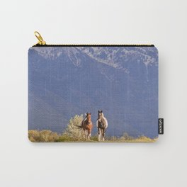 Paint Horses and Western Landscape Photograph Carry-All Pouch
