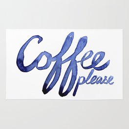 Coffee Please Drinks Caffeine Typography Coffee Lovers Rug