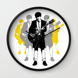 Taking the Lead - white Wall Clock