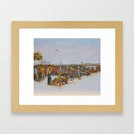 Market. Painting Framed Art Print