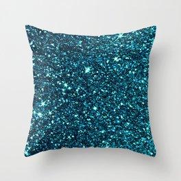 midnight blue sparkle Throw Pillow