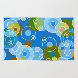 Blue Bubbles Rug