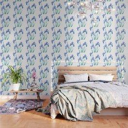 blue iris watercolor Wallpaper