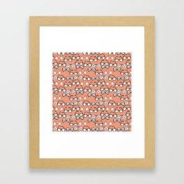 glasses Stereotype Flamingo Framed Art Print