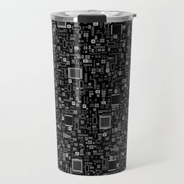 All Tech Line INVERTED / Highly detailed computer circuit board pattern Travel Mug