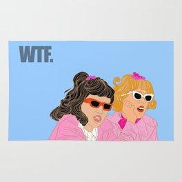WTF - Grease Movie Vibes Got Me Like - Throwback Fan Digital Art Rug