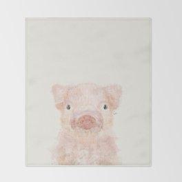 little piggy Throw Blanket
