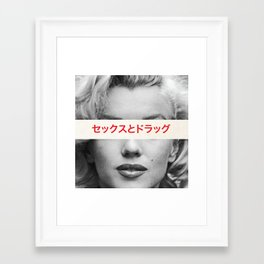 Sex, Drugs & Alcohol Framed Art Print