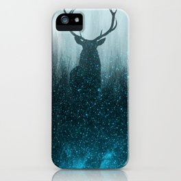 Snow Stag Silhouette iPhone Case