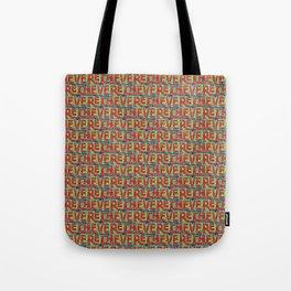 Typographic Graffiti Pattern Tote Bag