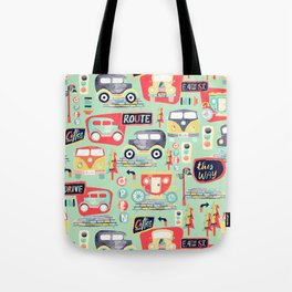 Travel Back in Time Tote Bag