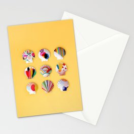 Rainbow Print Shells Stationery Cards