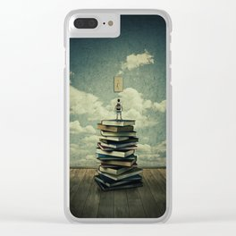 switch on your mind Clear iPhone Case