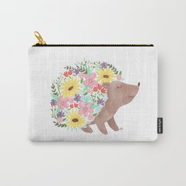 Flowering Hedgehog Carry-All Pouch