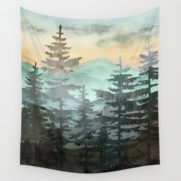 Pine Trees Wall Tapestry