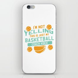 Funny Basketball Coach Gift iPhone Skin
