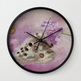 Butterflies on Lilacs Wall Clock