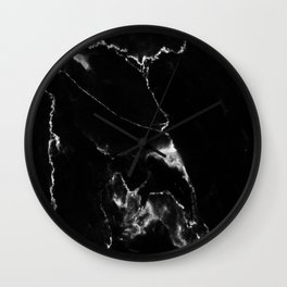 Black Marble I Wall Clock