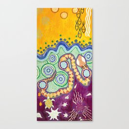 Rainbow Serpent Canvas Print