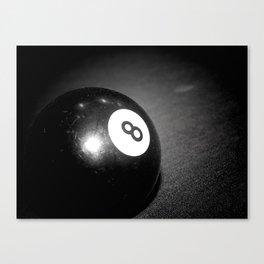 Eight Ball-Black Canvas Print