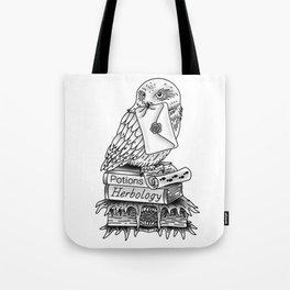 Hedwig On Books Tote Bag