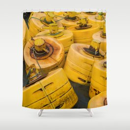 Yellow gathering Shower Curtain