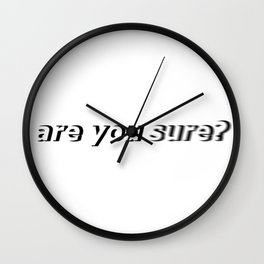 Clarity Wall Clock
