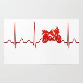 MOTORBIKE HEARTBEAT Rug