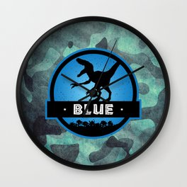 Velociraptor Squad: Blue Team Wall Clock