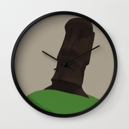 A lone Moai Wall Clock