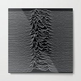 Unknown Radio Waves - Unknown Pleasures Metal Print