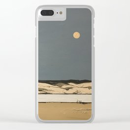 Moon landscape painting Clear iPhone Case
