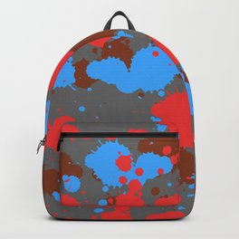 color dripping Backpack