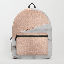 St Tropez rose gold marble Backpack