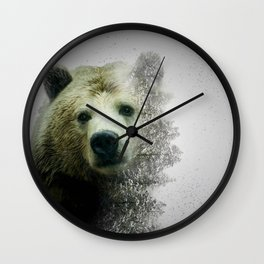Pacific Grizzly Wall Clock