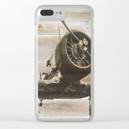 Old airplane 2 Clear iPhone Case