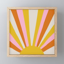 sunshine state of mind Framed Mini Art Print
