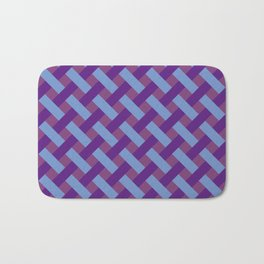 Purple And Blue Line Geometric Patterns Bath Mat