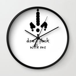 Don't Pluck with Me Anti Christmas and Thanksgiving Card Wall Clock