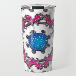 Alien Artefact Mandala Pattern Travel Mug