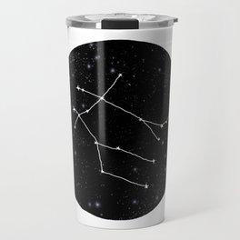 Gemini zodiac constellations astrology star gazer black and white minimalist Travel Mug