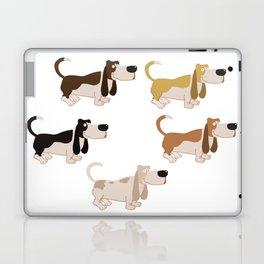 Basset Hound Colors Illustration Laptop & iPad Skin