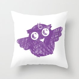 Sugar the Day Owl 2 Throw Pillow