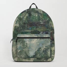 Classic Art At the Water's Edge Paul Cézanne Backpack