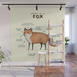 Anatomy of a Fox Wall Mural