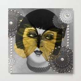 Butterfly Woman Metal Print