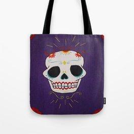 Azure Sugar Skull Tote Bag