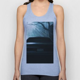 CADILLAC DEVILLE CAR AT DRAMATIC STREET DURING NIGHT Unisex Tank Top