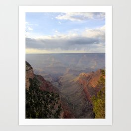 Rain over the Canyon Art Print