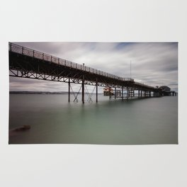 Mumbles pier and lifeboat station Rug